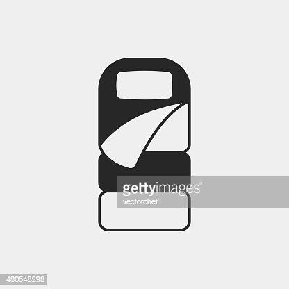 Icono de saco de dormir : Arte vectorial