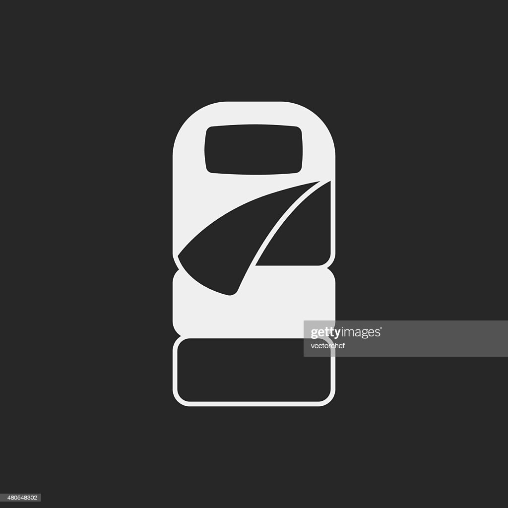 Sleeping bag icon : Vector Art