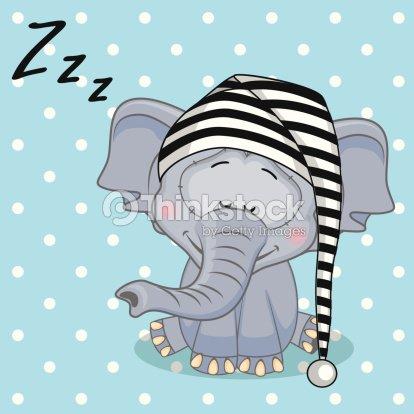 Sleeping Elephant stock vector - Thinkstock