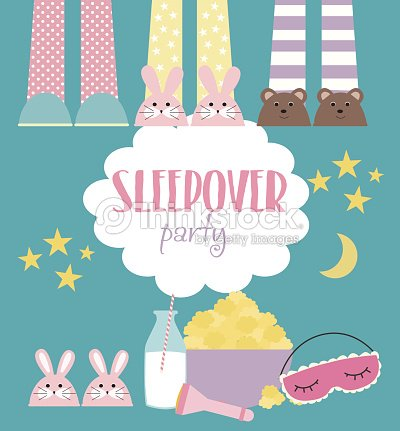 Sleepover invitation card with cute elements arte vetorial thinkstock sleepover invitation card with cute elements arte vetorial stopboris Gallery