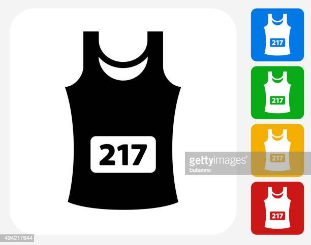 Sleeveless Jersey Icon Flat Graphic Design