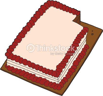 Scheiben Kuchen Auf Weiss Vektorgrafik Thinkstock