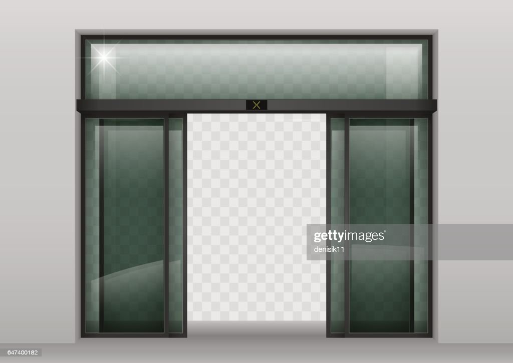 Sliding glass automatic doors vector art getty images for Sliding glass doors drawing