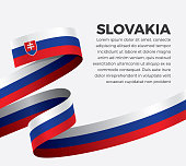 Slovakia, flag, country, culture, background, vector