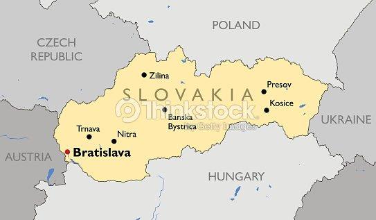Slovakia Map stock vector | Thinkstock