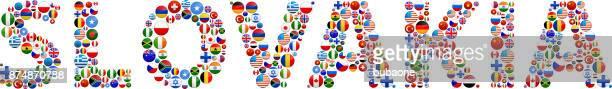 Slovakia World Flags Vector Buttons