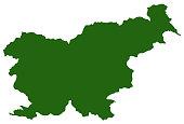 vector illustration of Slovenia map