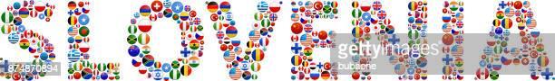 Slovenia World Flags Vector Buttons