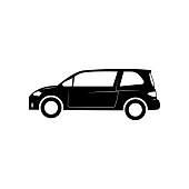 Small hatchback icon. Car type simple icon. Transport element icon. Premium quality graphic design. Signs, outline symbols collection icon for websites, web design on white background