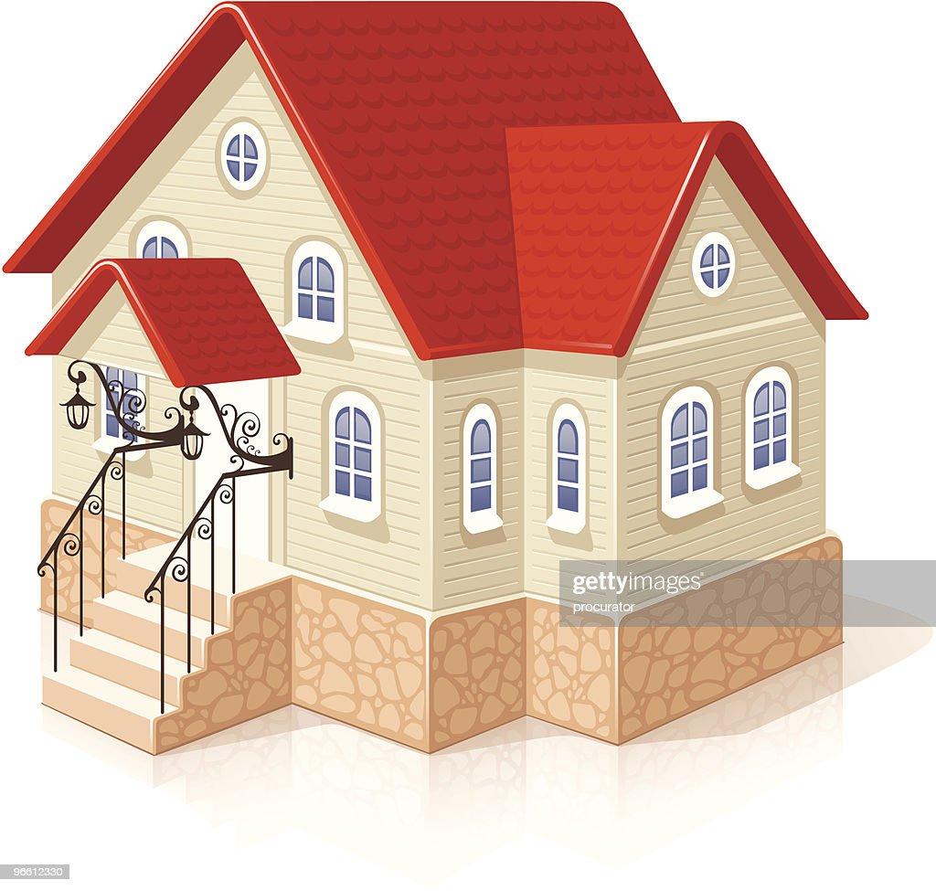 Small house : Vector Art