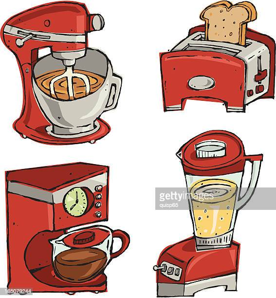 Cartoon Kitchen Mixer ~ Electric mixer stock illustrations and cartoons getty images