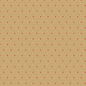 Small red Christmas tree pattern on beige background, for give wrapping paper