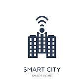 Smart city icon. Trendy flat vector Smart city icon on white background from smart home collection, vector illustration can be use for web and mobile, eps10