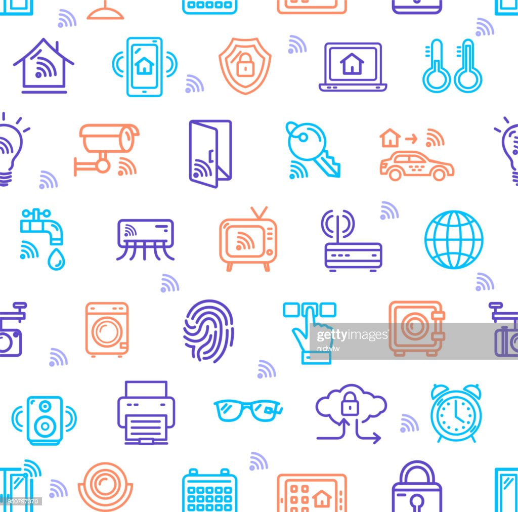 smart home signs seamless pattern background vector stock vector rh thinkstockphotos ae pattern making at home patten homes