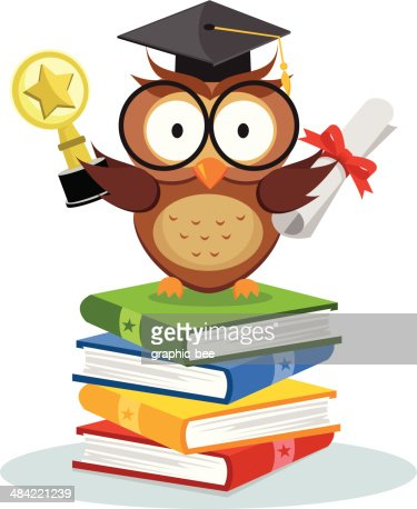 Smart Owl Graduation Vector Art   Getty Images