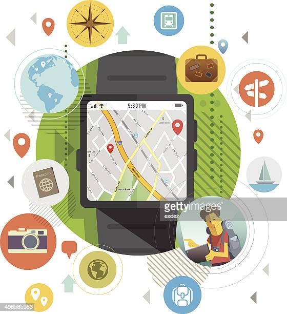 Smart watch für Reisende.