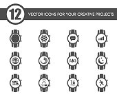 smart watch web icons for your creative projects