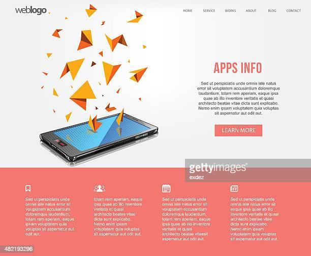 Smartphone apps web design