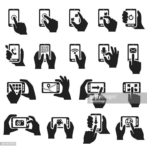 Smartphone Functions Icon Set