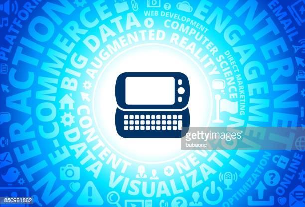 Smartphone Icon on Internet Modern Technology Words Background