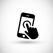 Smartphone icon vector isolated