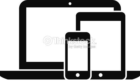 smartphone tablette et ordinateur portable clipart vectoriel thinkstock. Black Bedroom Furniture Sets. Home Design Ideas