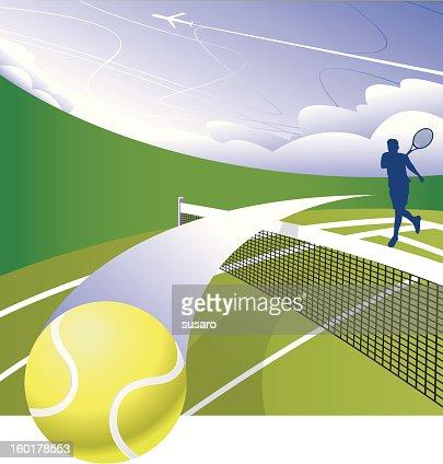 Smash The Court : Vector Art