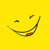 Smile template, vector yellow positive thinking poster