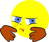 The illustration shows an emoticon that shows I will offend. I'm offended.