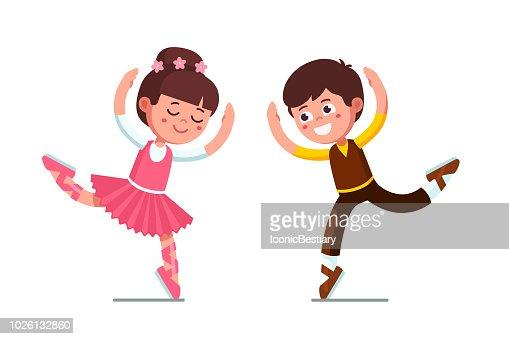 Sonriendo El Bailarín De Ballet Clásico Infantil Teatral