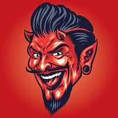 vector of Smiling devil Head