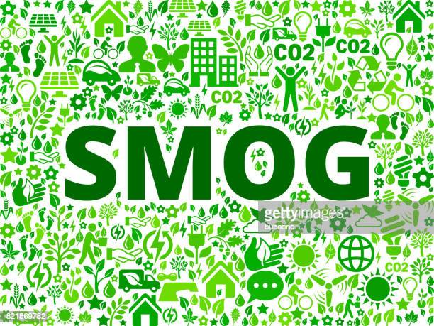 Smog Environmental Conservation Vector Icon Pattern