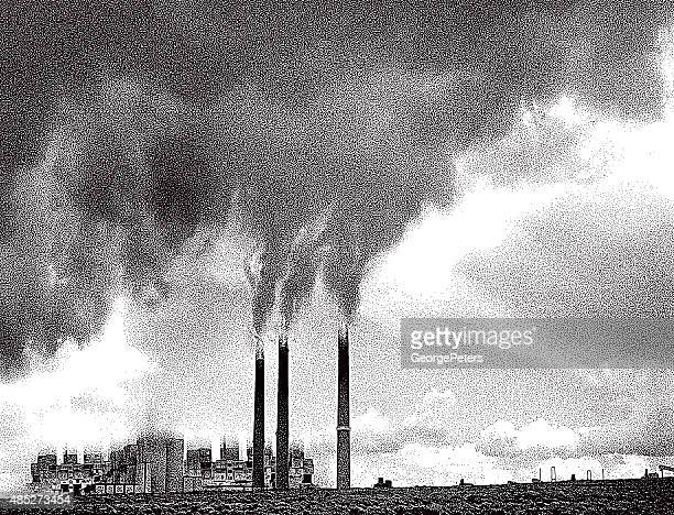 Smoke Pollution from Factory Chimneys