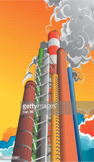 smoke stack : Vector Art