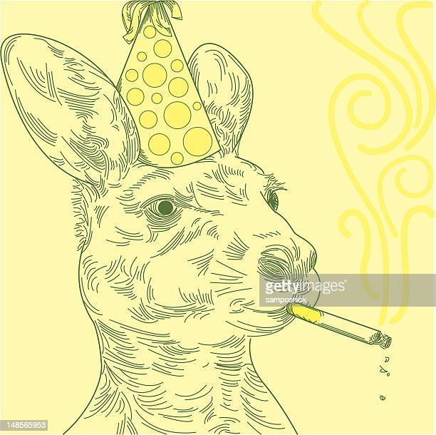 Smoking Party Kangaroo