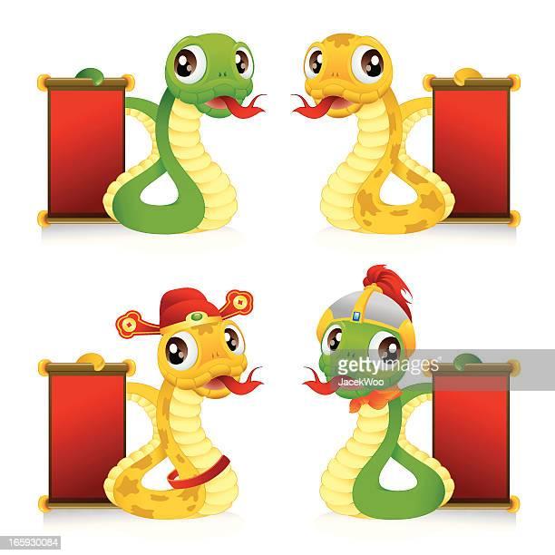 Mascotte de serpent