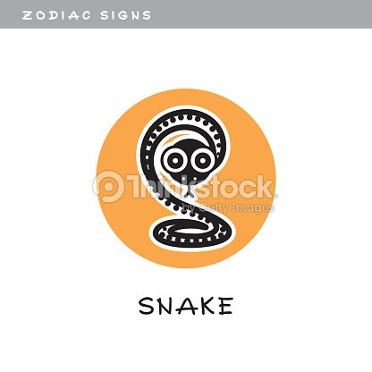 Snake Vector Icon Zodiac Sign Symbol Of Chinese Astrological