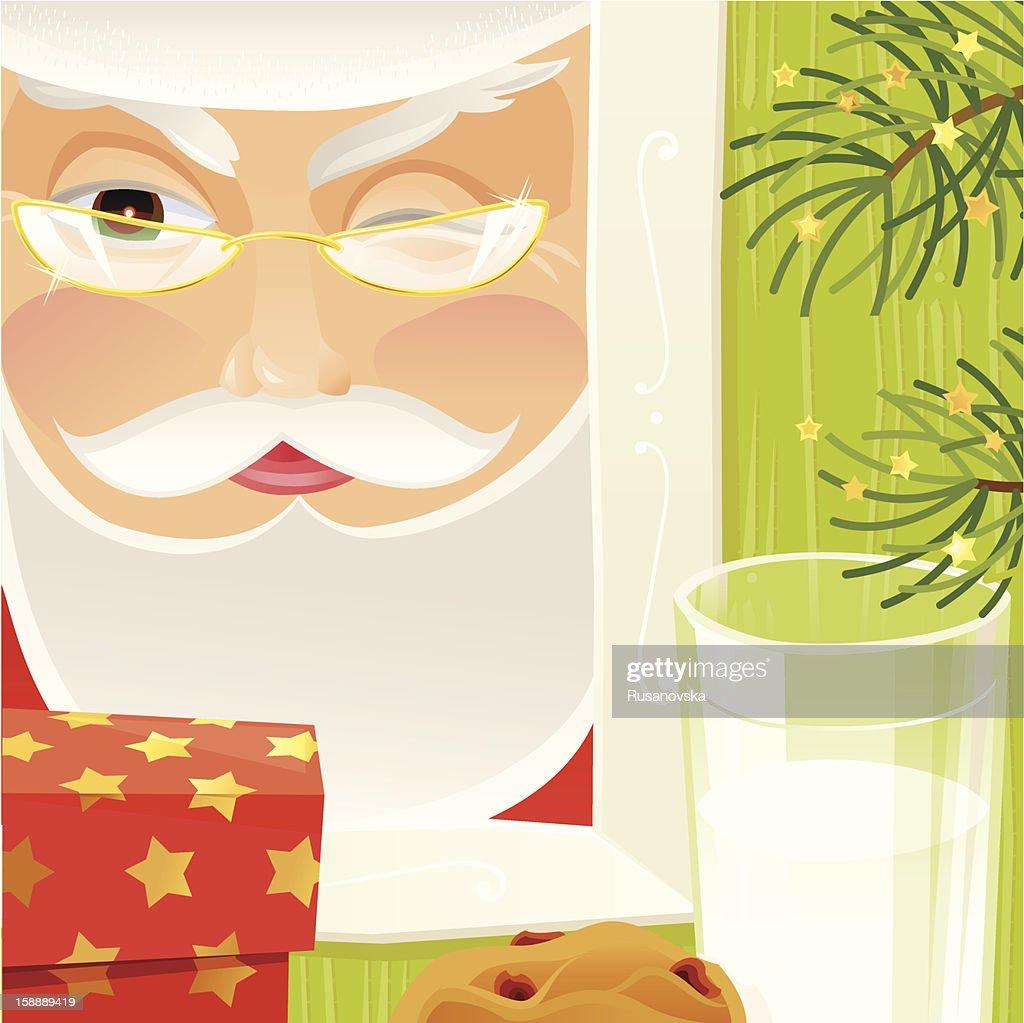 Sneaky Santa : Vektorgrafik