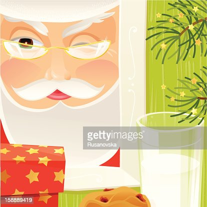 Sneaky Santa : Vector Art