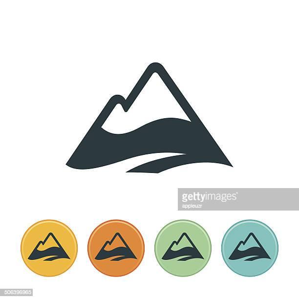 Icono de las montañas, coronadas de nieve
