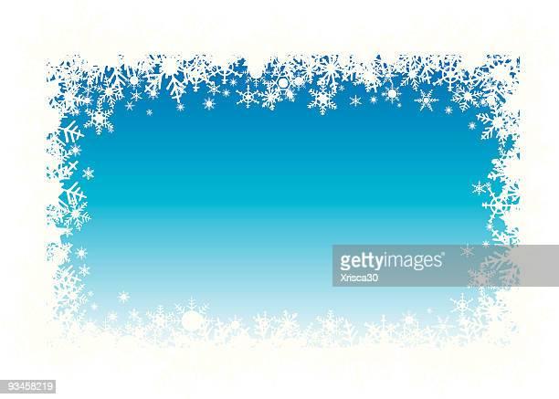 snow flakes holiday border