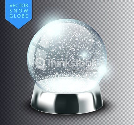 snow globe isolated template empty on transparent background