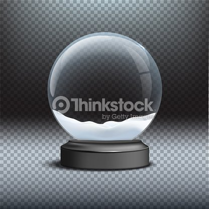 snow globe template empty glass snow globe on transparent background