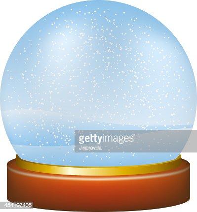 Globo de nieve en invierno paisaje : Arte vectorial