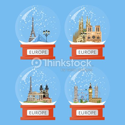 Snow globes with famous attractions