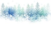 Snow scenery background with copy space.File contains clipping mask,Gradient, Transparency, Gradient mesh, Blending tool.