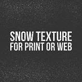 Snow Texture for Print or Web. Vector Illustration