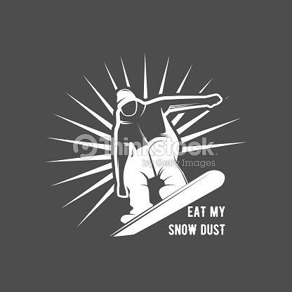 Snowboarding badge winter sport