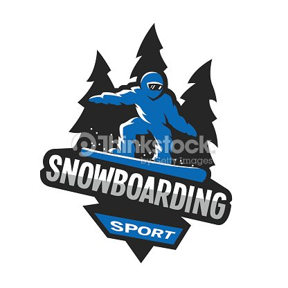 Snowboarding winter sports, symbol, emblem.