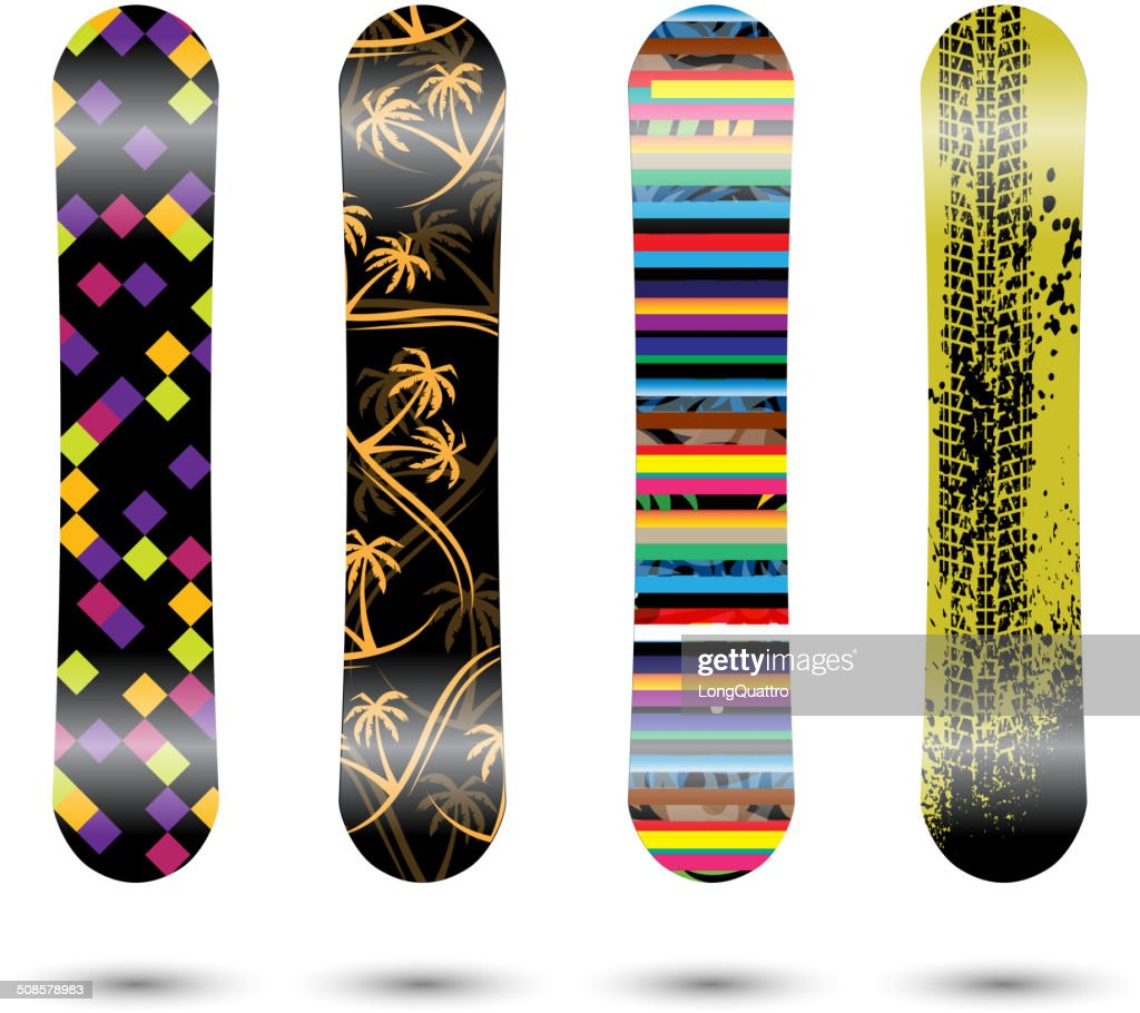 Snowboards : Vector Art